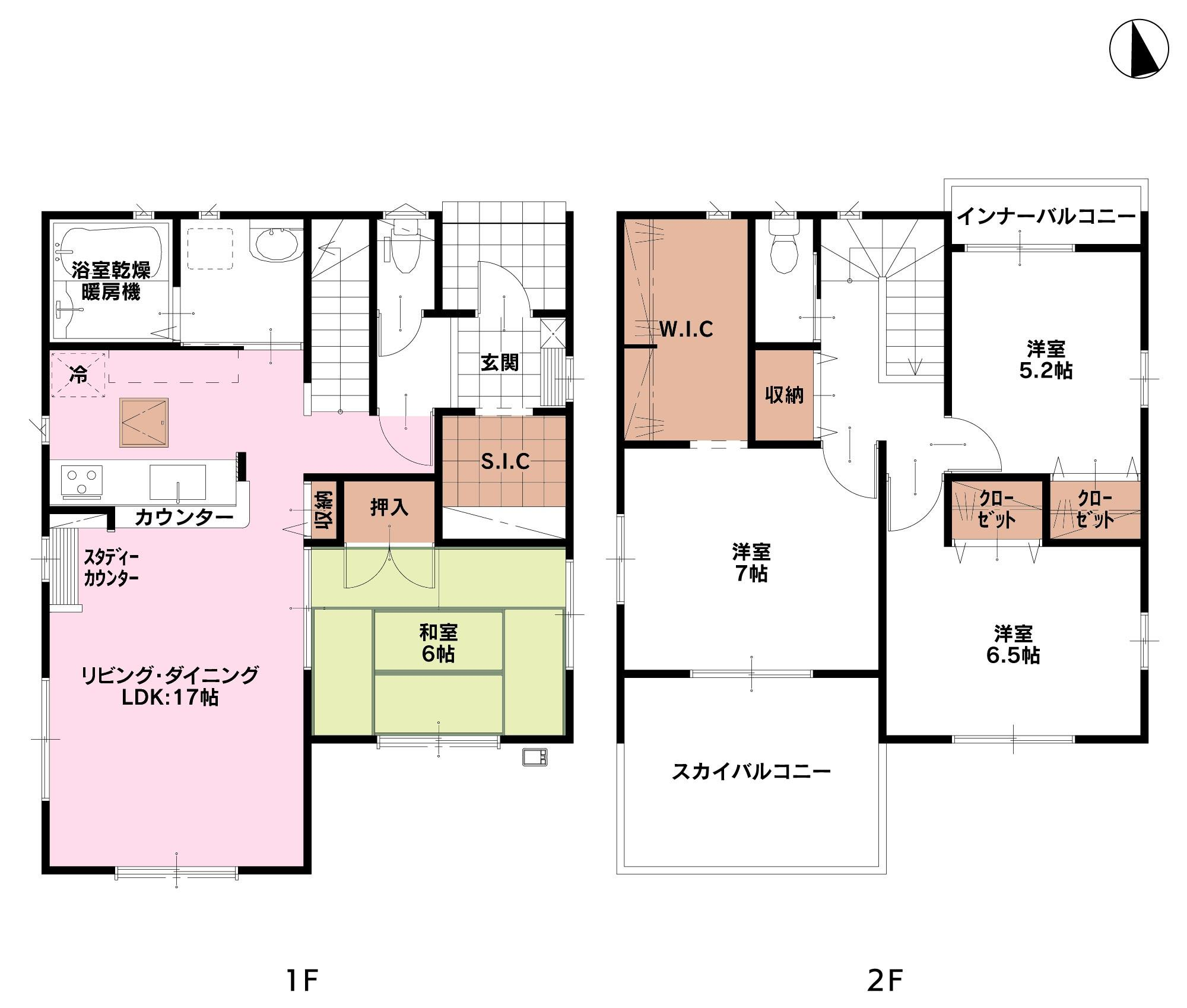 1号棟間取り図 価格(税込):2780万円