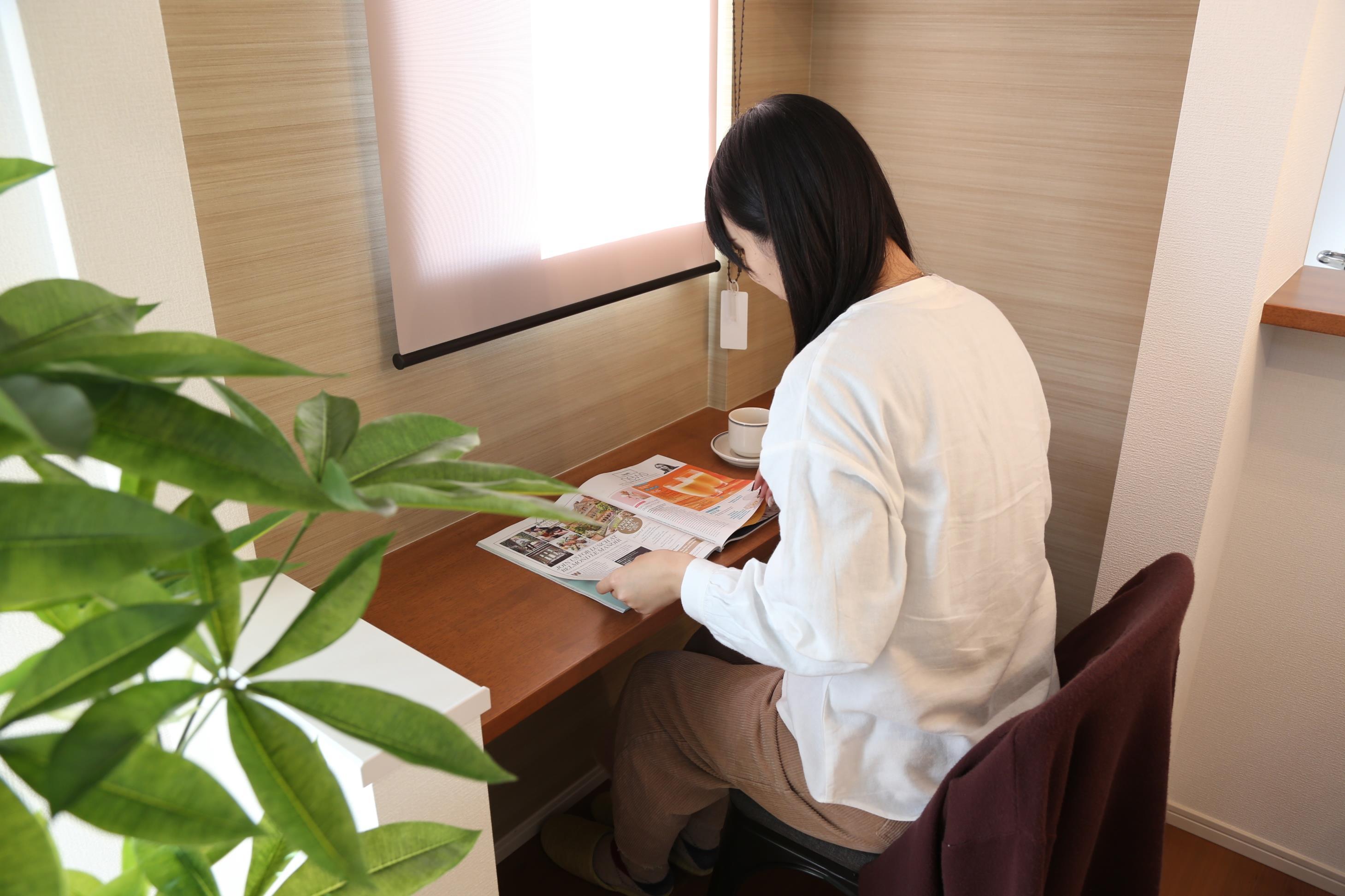スタディカウンターではママがお料理をしながらお子様の宿題風景を見ることができます。大切なお子様との一瞬一瞬を同じ空間でお過ごしください♪