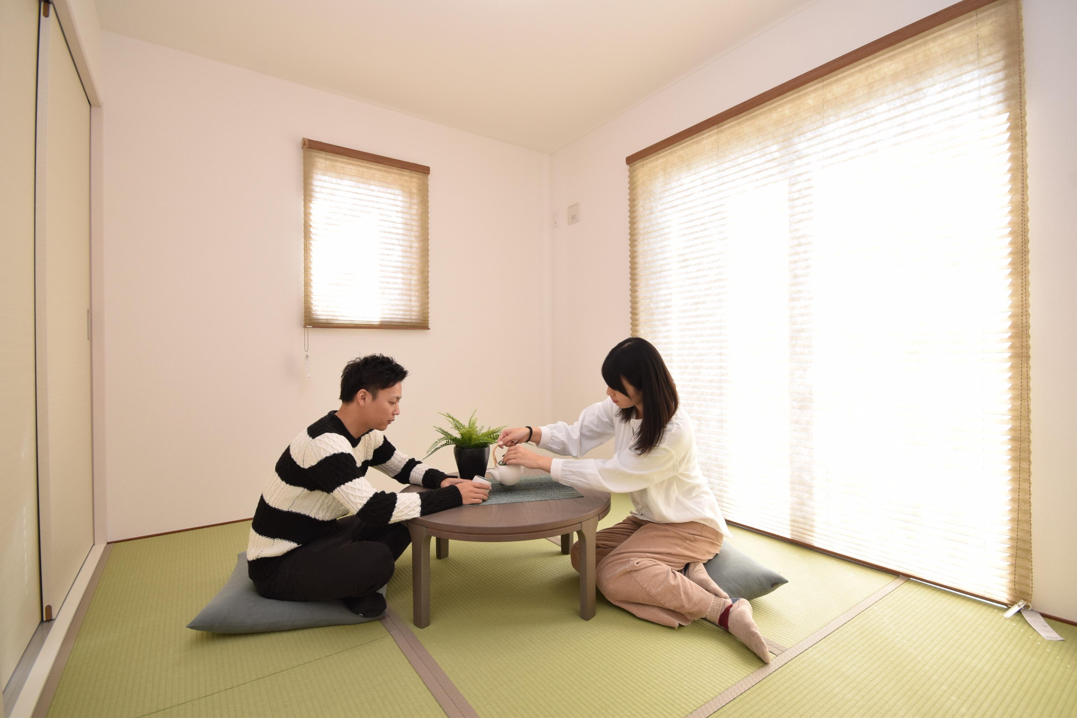 あると嬉しい1階の一部屋。お子様のお昼寝スペースや客間、お友達やご親戚のお泊り部屋としても使えます。