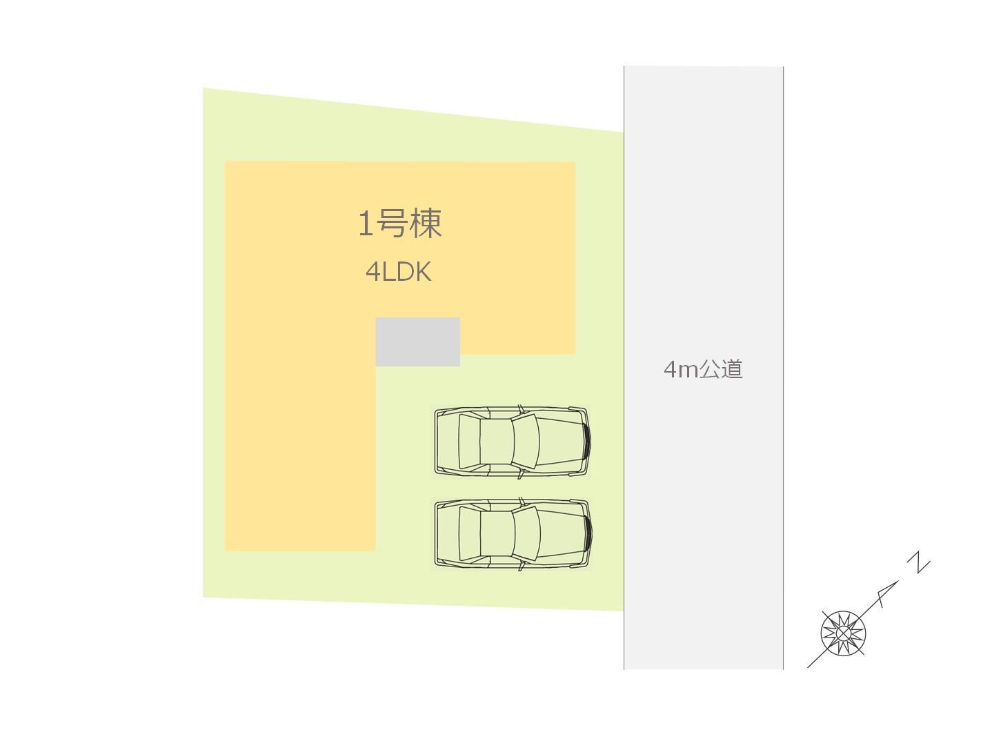 【配置図】:低層の住宅が立並ぶ静かな住宅街!!MEGAドン・キホーテ徒歩13分の生活に便利な立地、身近に自然も感じるのびのびとした住環境です♪