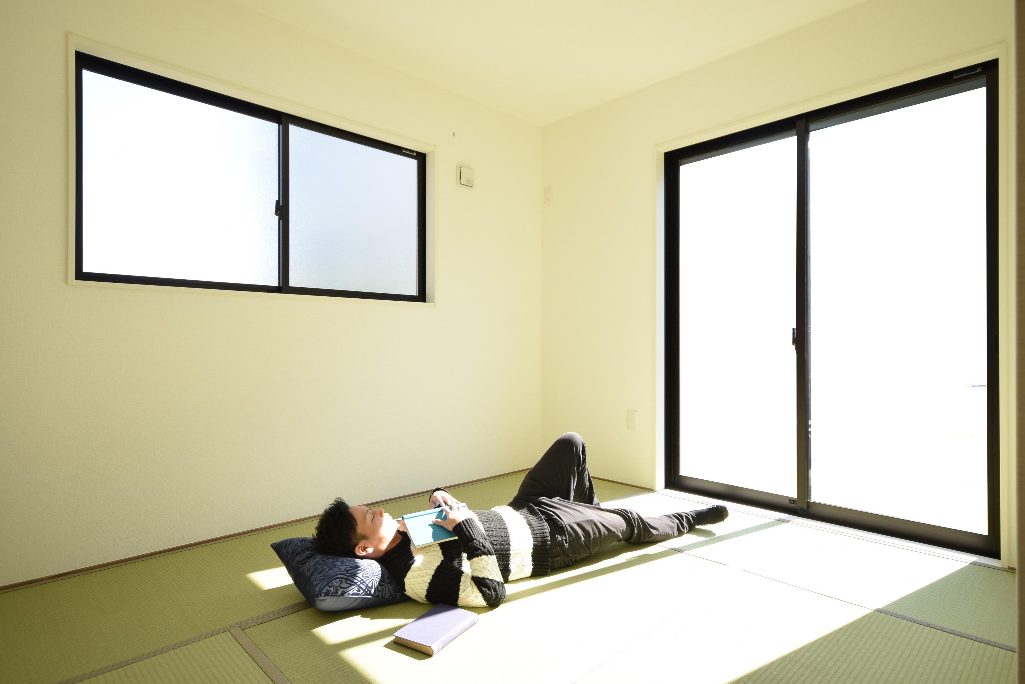 その他内観*和室イメージ  リビングと続き間の和室は、お子さまのお昼寝スペースにとても最適です♪