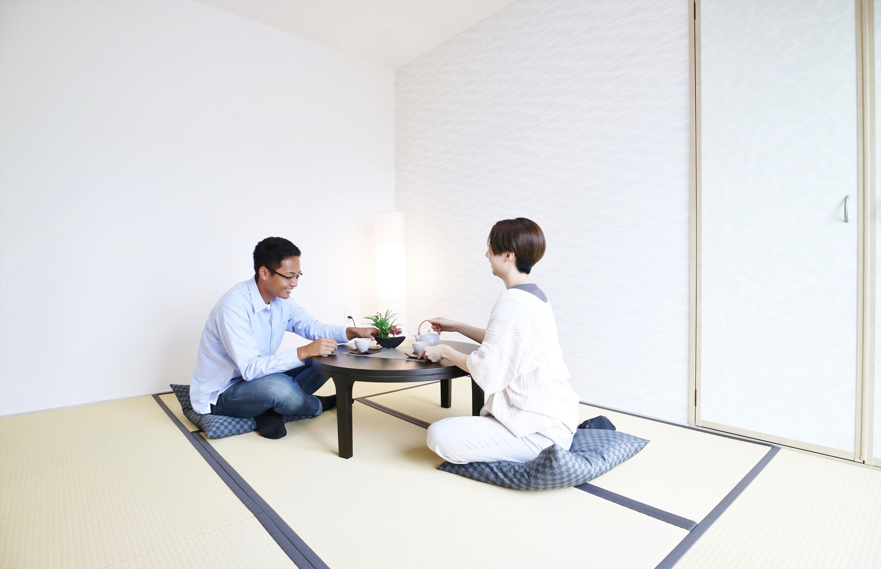 同仕様写真(その他内観)*和室イメージ|リビングと続き間の和室は、洗濯物を畳むスペースやお子さまのお昼寝スペースに最適です♪
