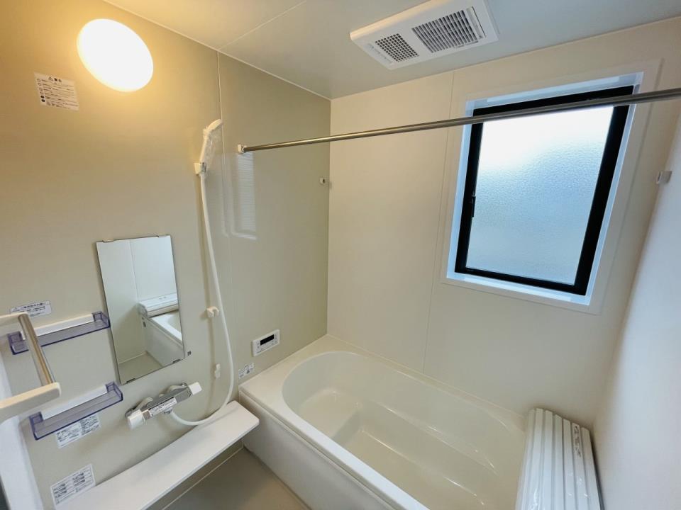 浴室乾燥付│雨の日でも浴室で洗濯物が乾かせます。