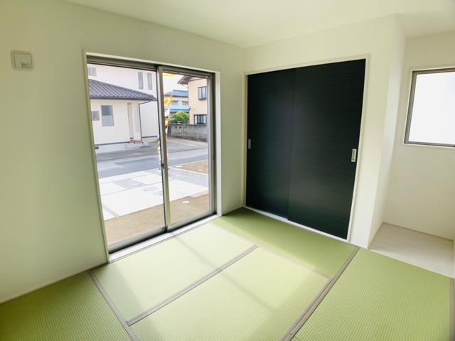 3号棟 和室はお子様のプレイルームやお昼寝スペースとしてもあると嬉しい1室です。
