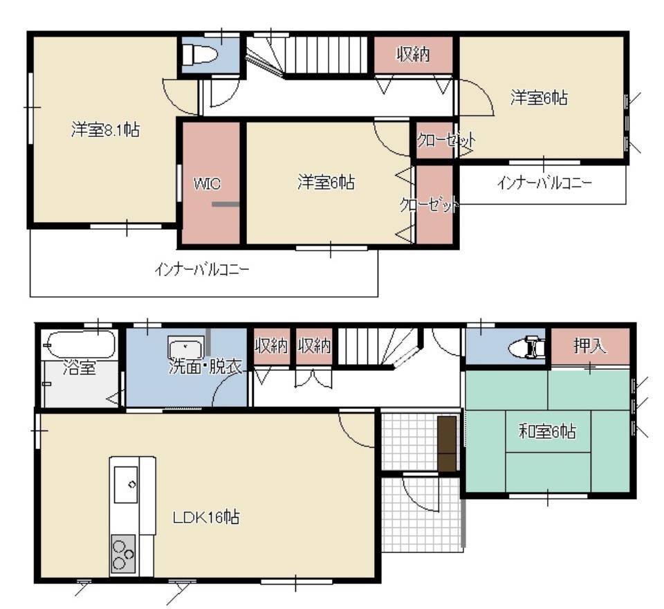 全居室南向き♪  収納充実の36坪♪