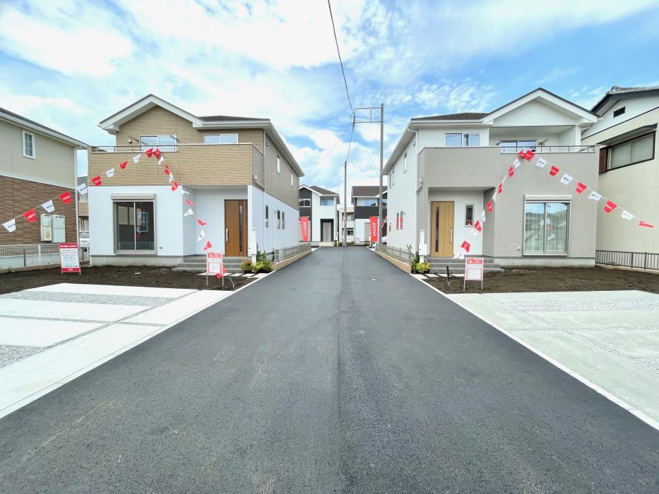 剣崎町に全4棟現場新登場!早くも1棟ご成約済みです♪  ☆2021.2.1撮影
