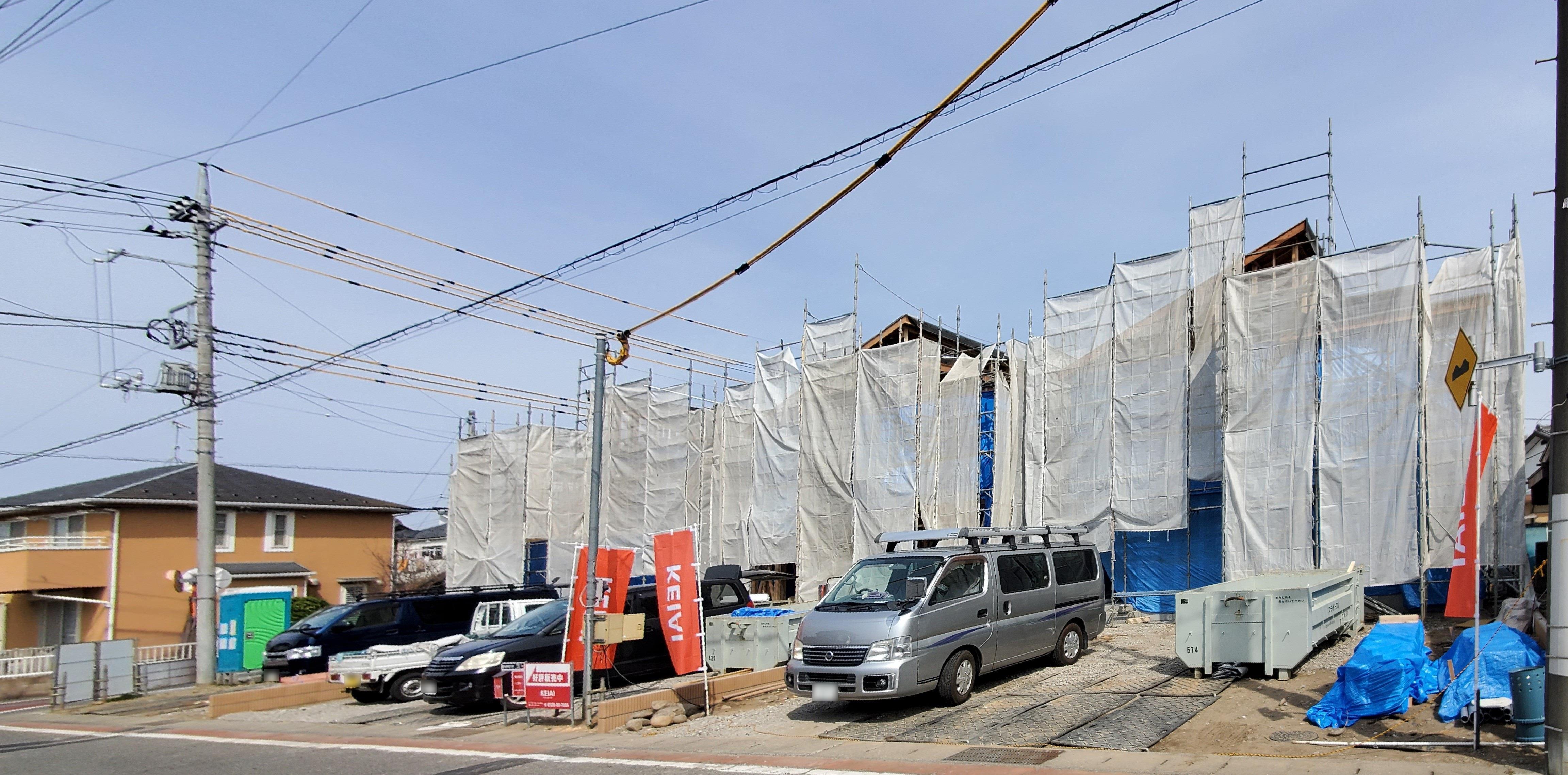 3号棟は全居室南向き、収納スペースをたっぷり設けたお家が建つ予定です!  ☆2021.3.27撮影