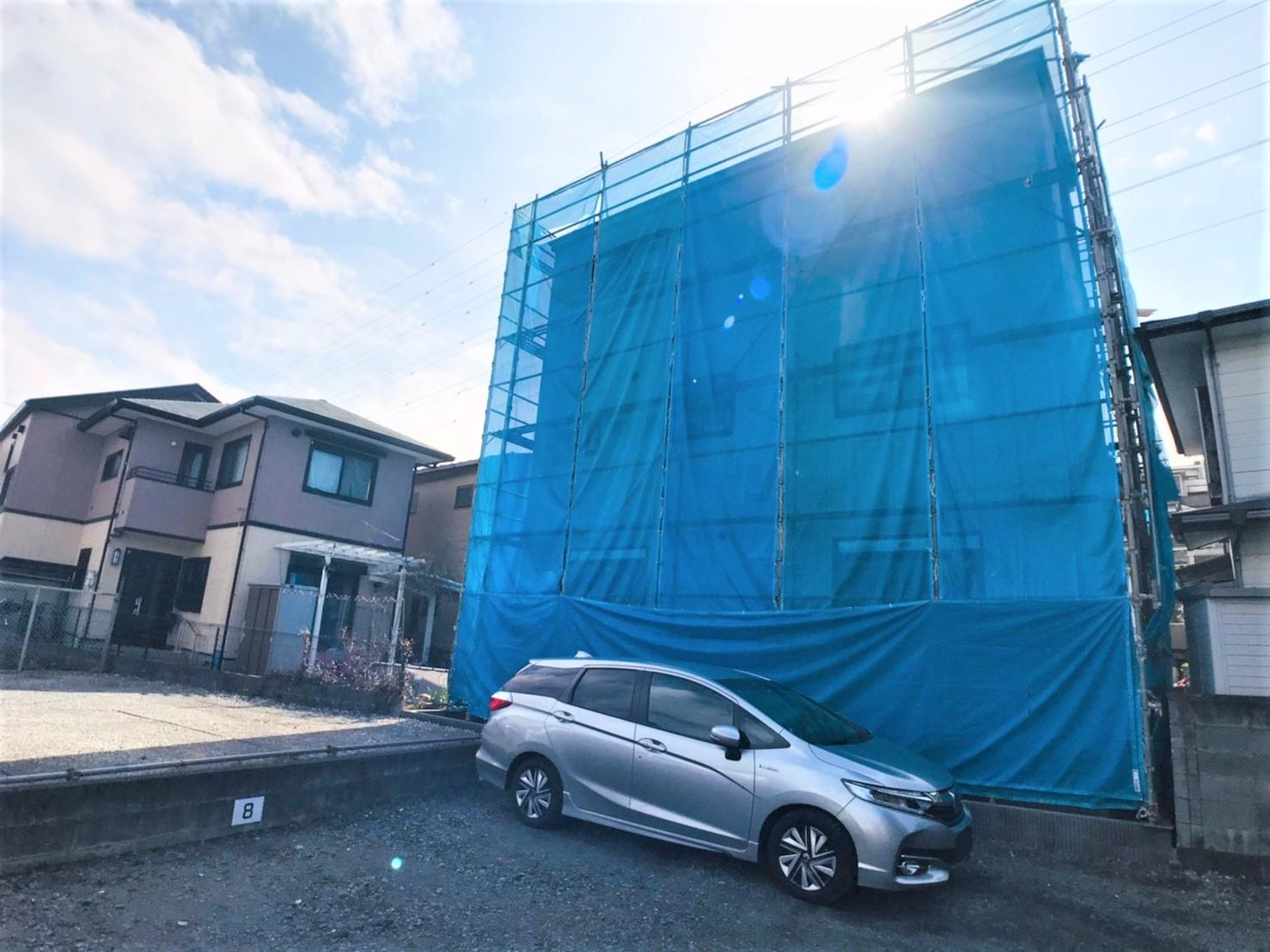 現地外観  ●現地は、東京外環道へ出やすく、草加・戸田方面へアクセス良好です!