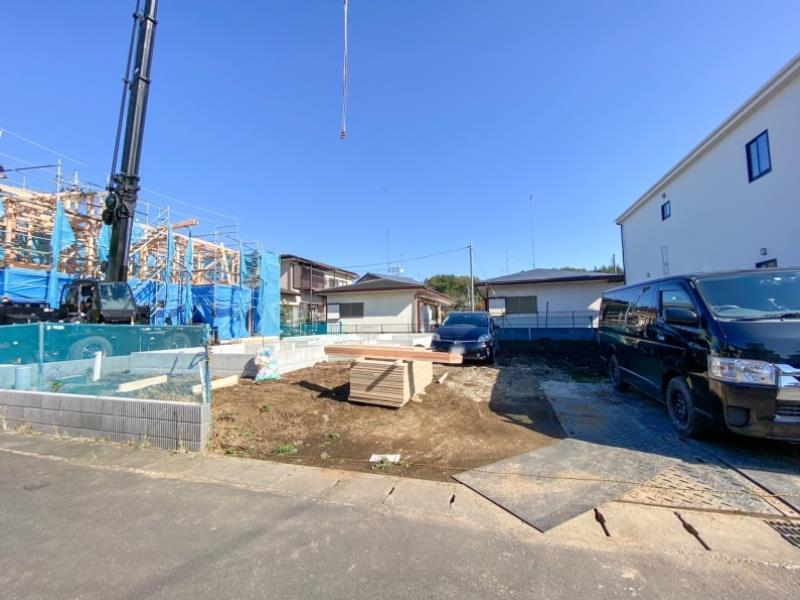 現地(2021年8月1日)撮影  2号棟建築地